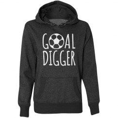 Soccer Goal Digger Glitter Hoodie