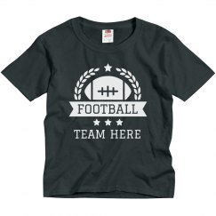 Youth Custom Football Team Emblem Tees
