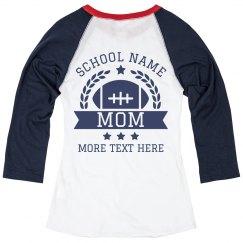 Custom High School Football Mom Tee