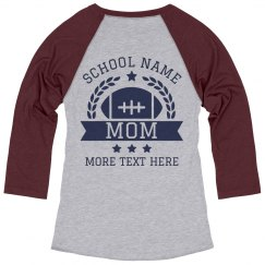 Custom High School Football Mom Tee