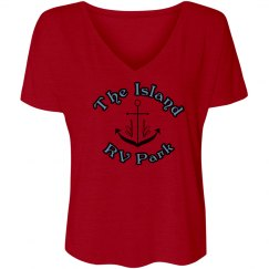 Womens V Neck Loose T