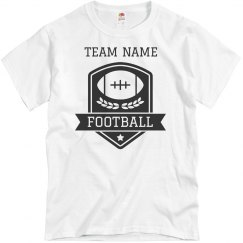 Custom Football Team Emblem Tee