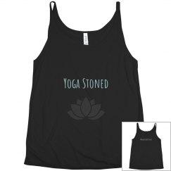 Plus sized yoga stoned flowy tank