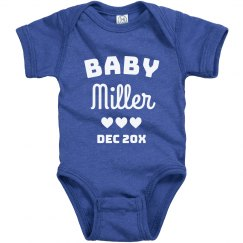 Custom Baby Announcement Last Name Onesie
