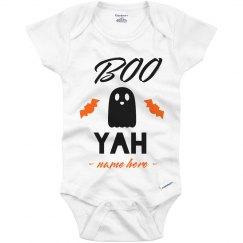 Boo Yah Custom Halloween Baby Onesie