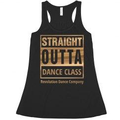 Straight Outta Dance Class Crop Top