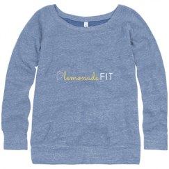 Ladies Relaxed Fit Triblend Wideneck Sweatshirt