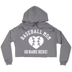 Baseball Mom Custom Crop Sweatshirt