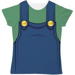 Ladies Green Video Game Plumber costume
