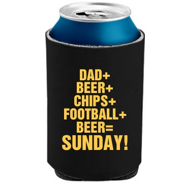 Dad And Football And Beer