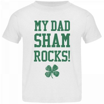 Dad Shamrocks Funny St Pat Kid