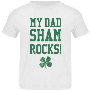 Dad Shamrocks Funny St Pat Kid
