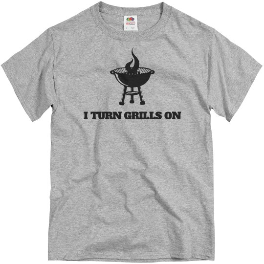 Dad Turns Grills On