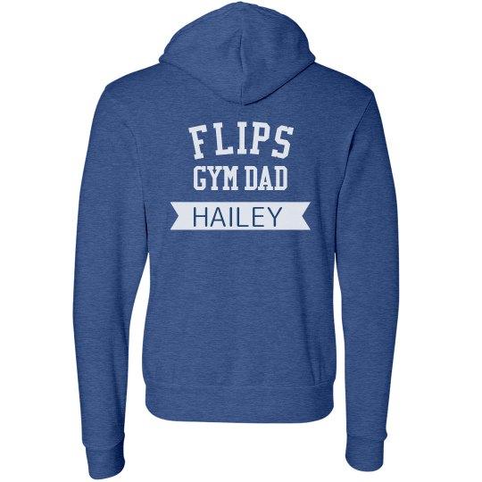Dad zip up sweatshirt (custom name)