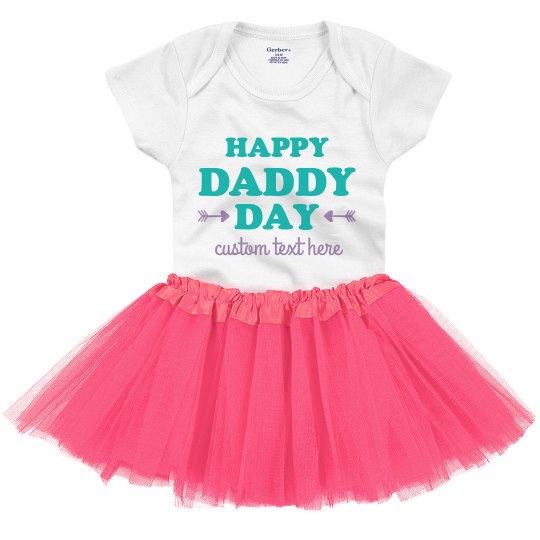 Daddy Day Baby Tutu Onesie