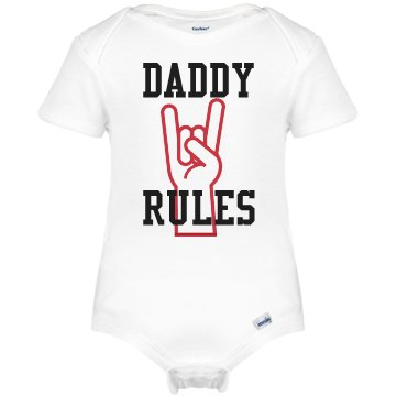 Daddy Rules Onesie