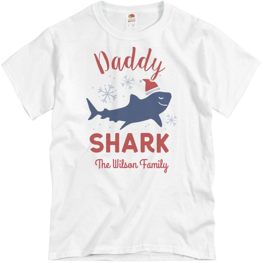 Daddy Shark Matching Family Christmas Custom Shirts