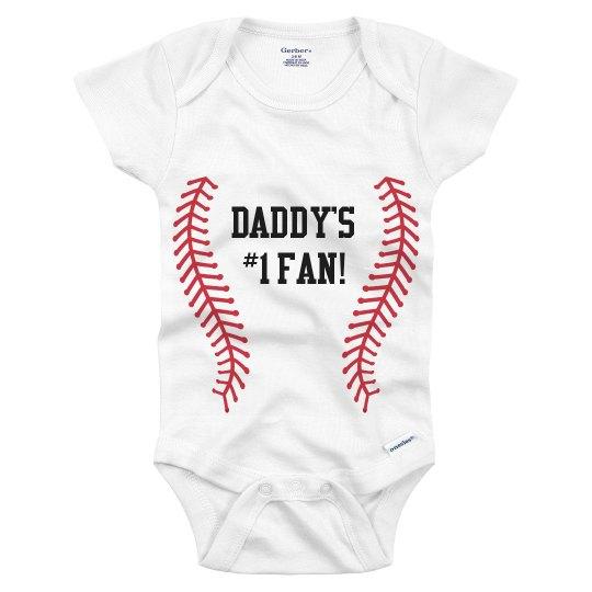 Daddy's #1 Fan Baseball