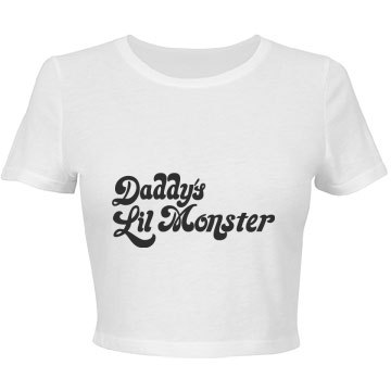 Daddys Lil Monster Short Sleeve Crop