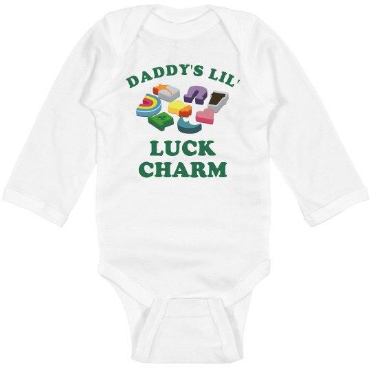 Dad's Luck Charm Long Sleeve Bodysuit