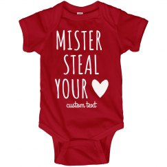 Mister Steal Your Heart Cutest Custom Valentine's Baby