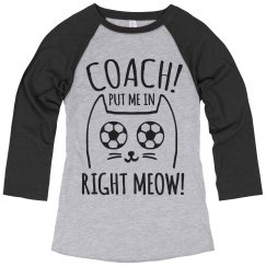 Cat Pun Soccer Girl Humor Coach