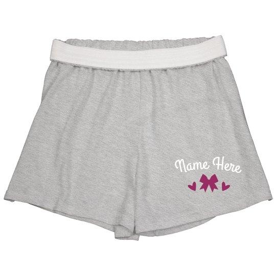Dance Bow Custom Name Shorts