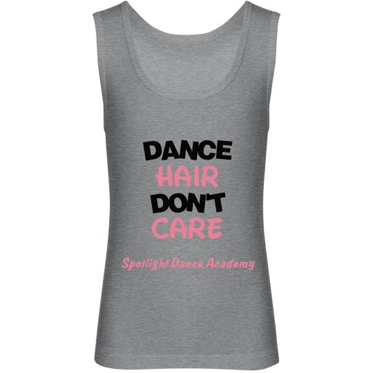 Dance Hair Don't Care Tank-Youth