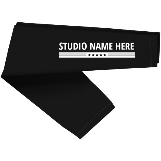 Dance Studio Name Custom Leg Print