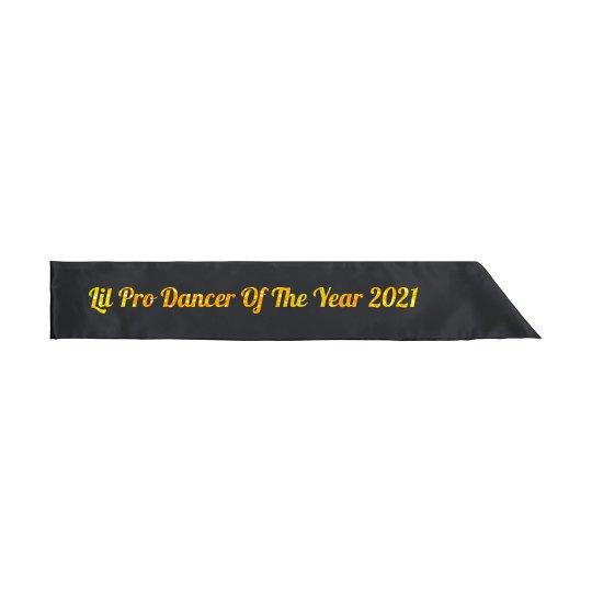 Dancer of the year sash