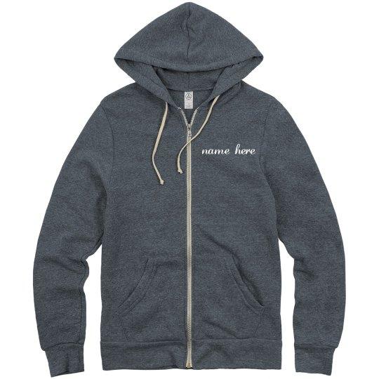 dancer with name zip-up hoodie