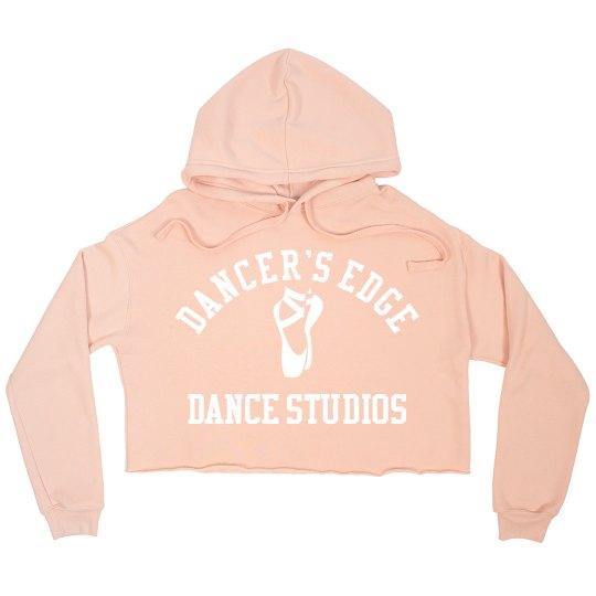 Dancers edge cropped hoodie
