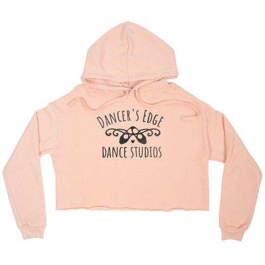 Dancer's edge hooded crop top long sleeve