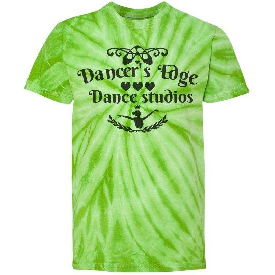 Dancer's edge tie-dye tee