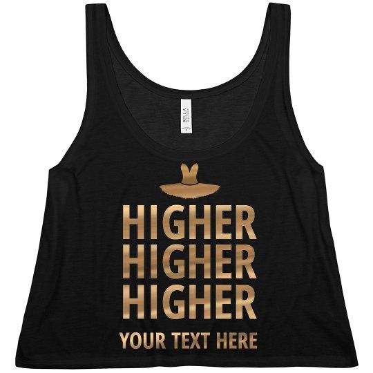 Dancers Go Higher Gold Metallic