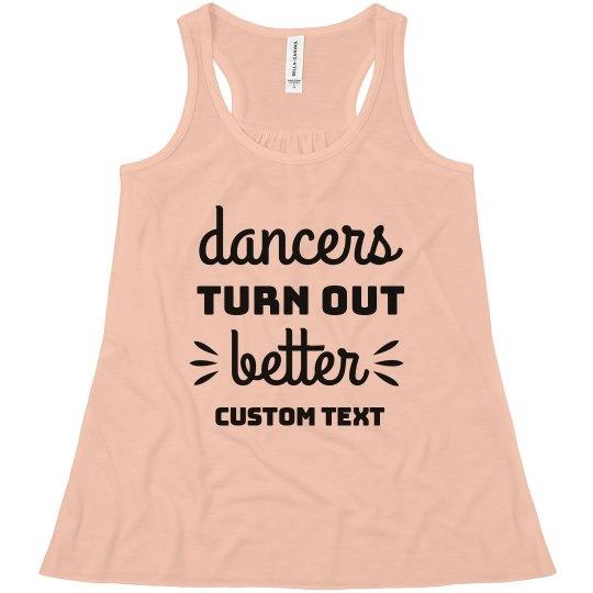 Dancers Turn Out Better Custom Dance Kids Tank