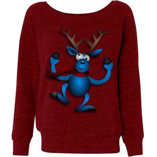Dancing Blue Reindeer