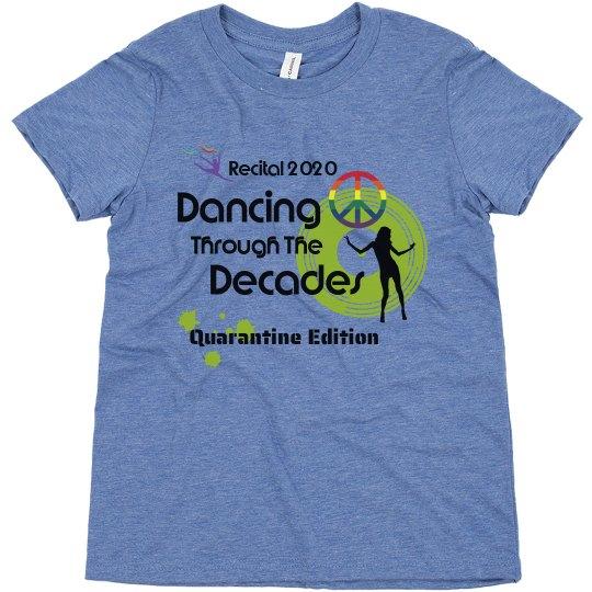 Dancing Through The Decades Kids T-shirt