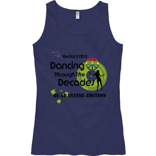 Dancing Through The Decades LADIES Fitted Tank Top