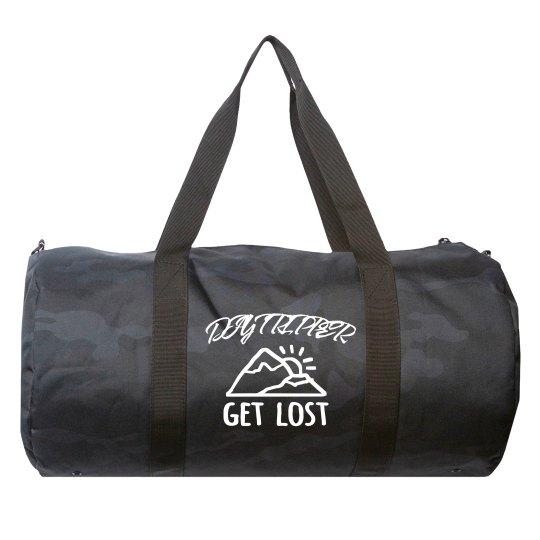Day Tripper Get Lost Camo Duffel Bag