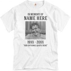 Custom In Memory Of Memorial Shirt