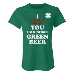 Mustache for Green Beer