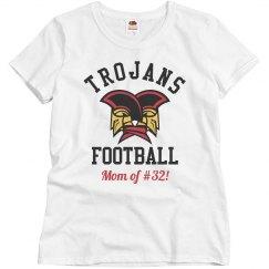 Custom Player Trojans Football Mom