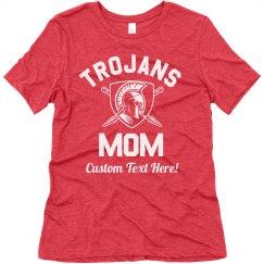 Trojans Mom Custom Sports Design