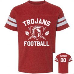 Personalized Trojans Football Kid