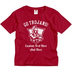 Custom Kids Trojans Football Shirts