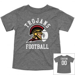Custom Toddler Trojan Football Tees
