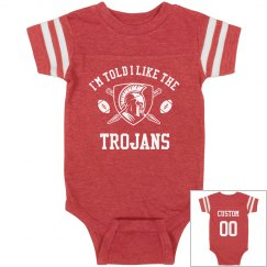 Custom Trojans Football Baby