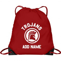 Custom Name Trojans Sports Bag