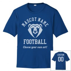 Football Dad Custom Mascot & Number